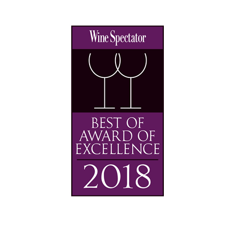 Wine Spectator - Best of Award of Excellence 2018